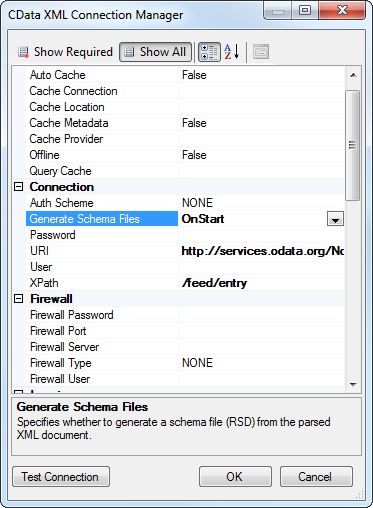Validating xml against xsd in ssis what is a connection