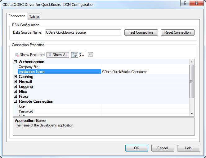 CData ODBC Driver for QuickBooks 2016 - Windows DSN